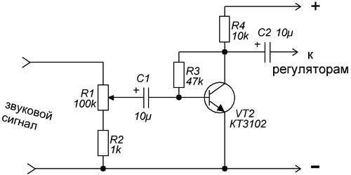 Цветомузыка на одном транзисторе своими руками