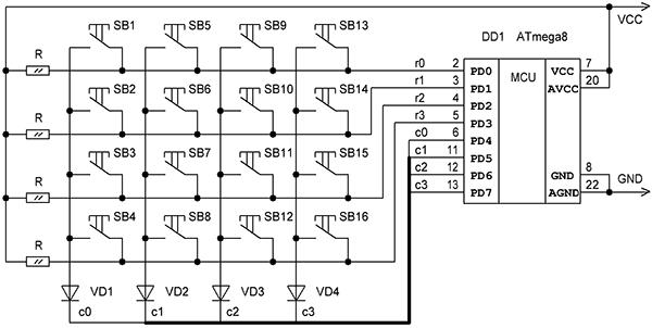Клавиатура схема составляющего