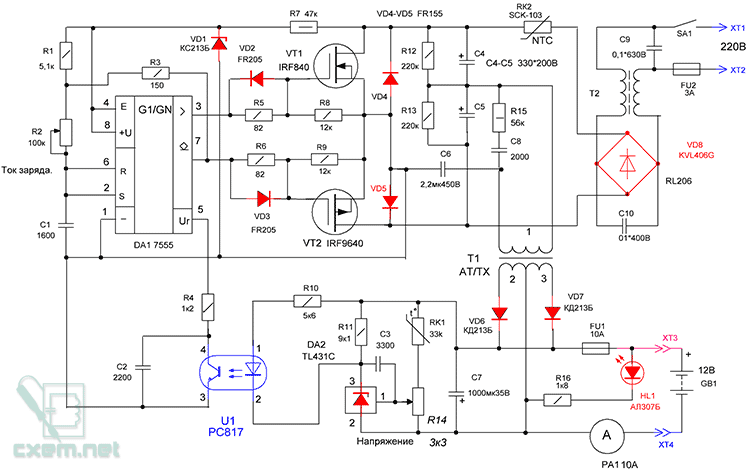 Импульсное зарядные устройства для аккумуляторов своими руками