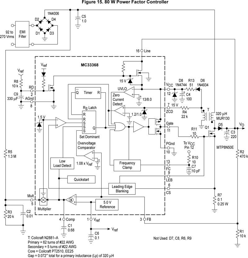 схема блока адаптер
